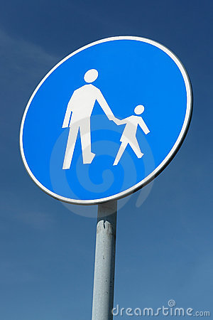 Free Child Pedestrian Roadsign Royalty Free Stock Photos - 5332598