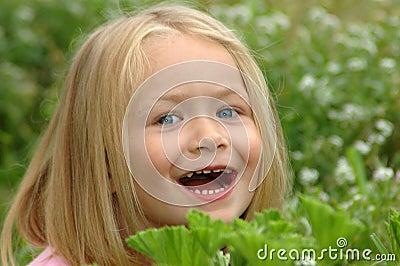 Child peekaboo