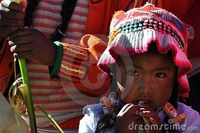 Child from Peru Editorial Photography