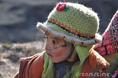 Child from Peru Editorial Stock Photo