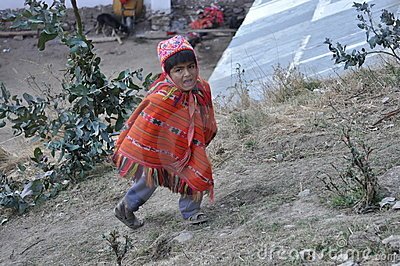 Child from Peru Editorial Image