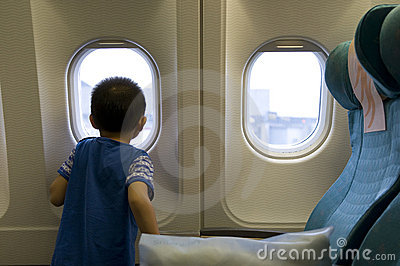 Child in the plane