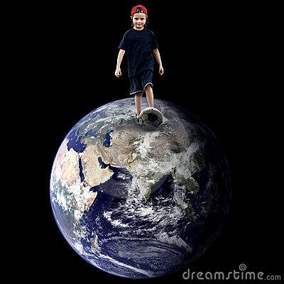 Child on the planet