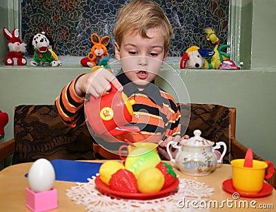 Child play tea
