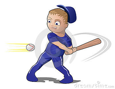 Child Playing Baseball with a bat