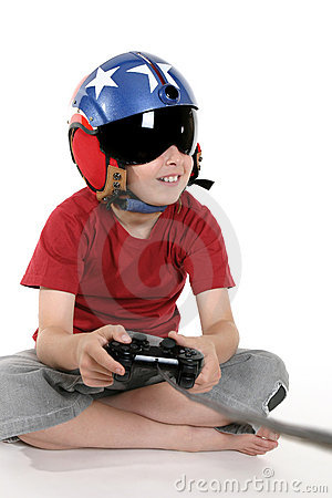 Free Child Playing Computer Games Stock Images - 1352304