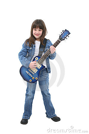 Free Child Playing Electric Guitar Stock Photos - 65933