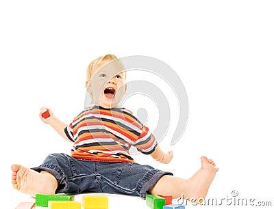 Child playing game
