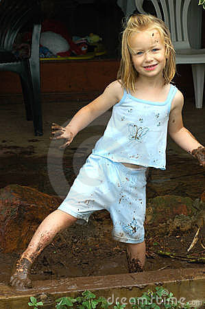 Free Child Playing In Mud Stock Images - 4637164