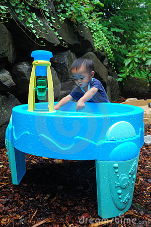 Child Playing in Water Pic1