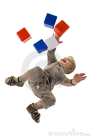 Free Child Playing With Block Royalty Free Stock Image - 5029356