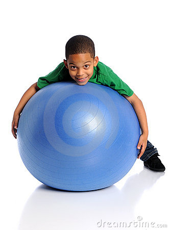 Free Child Playing With Large Ball Stock Images - 11609364