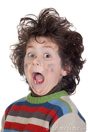 Child Plug Receiving Electric Shock Royalty Free Stock Image - Image: 12942446