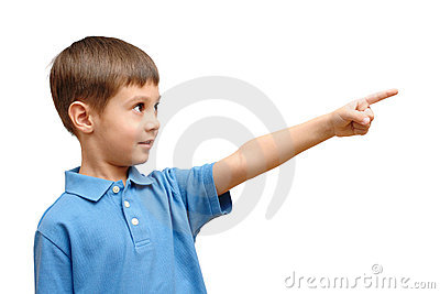 Child points his finger