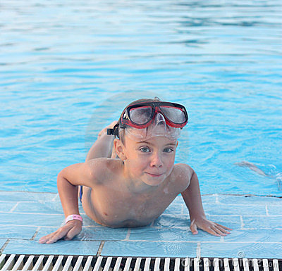 A child in the pool