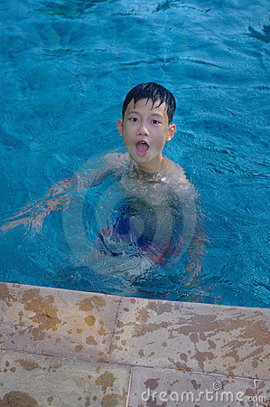 Child in the pool