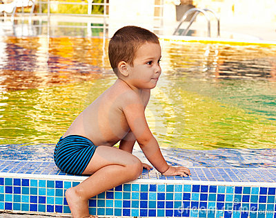Child on poolside