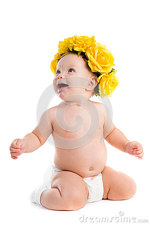 Free Child. Portrait Of Beautiful Happy Baby Royalty Free Stock Photography - 76366587