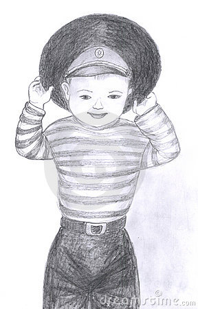 Child Portrait, Sketch Stock Photo - Image: 13091460