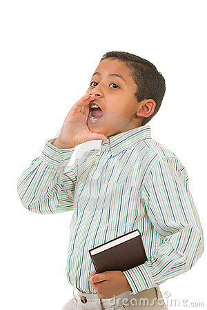 Child Preaching with Loud Voice