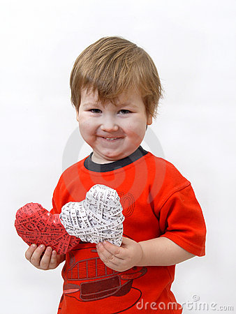 Child presents heart
