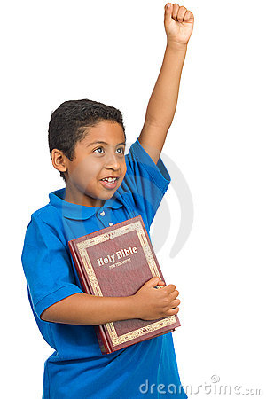 Child Proclaiming Victory by the Word of God