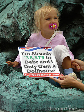 Child Protester Editorial Photo