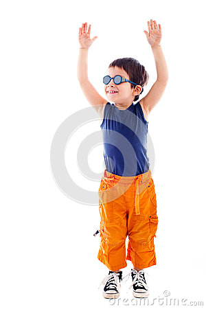 Child raising hands