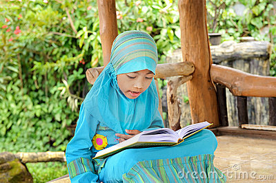 Child Reading Koran, Indonesia