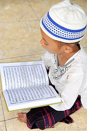 Child Reading Koran, Indonesia