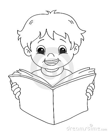 Child that reads - BW