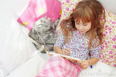 Child resting at home
