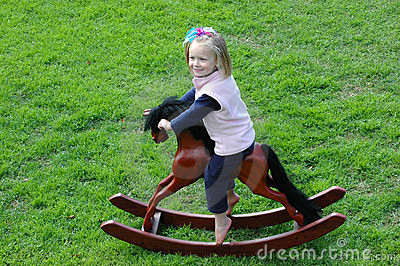 Child on rocking-horse