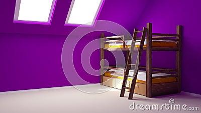 Child room on attic
