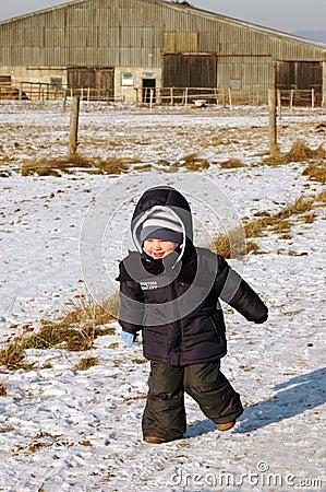 Child runs on the road.