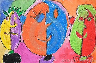 Child s Artwork of Faces