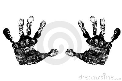 Child s Black Handprints