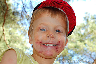 Child S Dirty Face Stock Photography Image 9857722