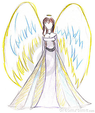 How to Draw an Angel with Wings for Kids
