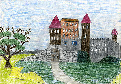 Child s drawing of castle.