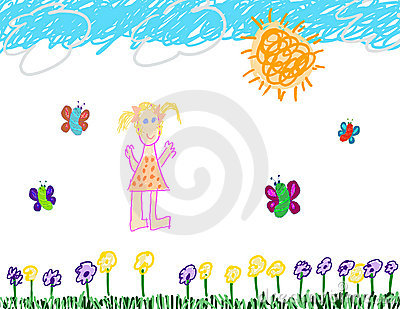 Child s drawing of fun outside