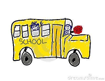 Child s drawing of school bus