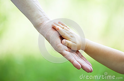Child s and gather s hands