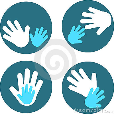 Free Child S Hands And Adult Hands - 3 Stock Images - 14598274