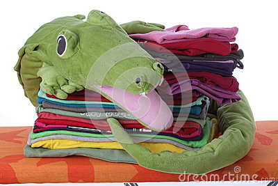 Child s laundry on ironing board