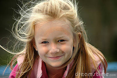 Child natural smile