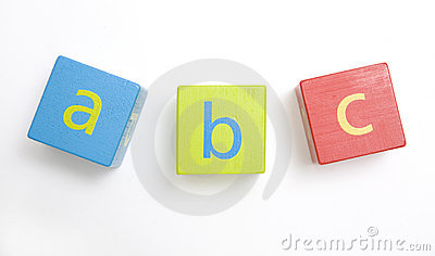 Child s wooden building blocks