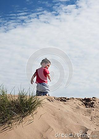 Child on sand dune