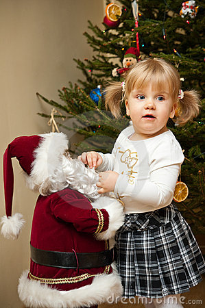 Child and Santa Claus Doll