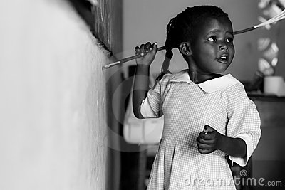 Child at school in Kenya,african children Editorial Photography